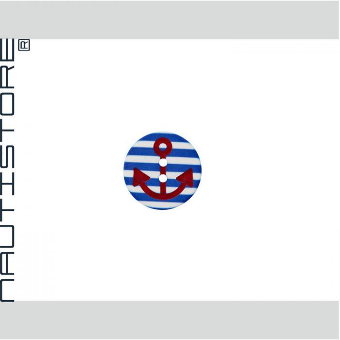 Knopf Anker Streifen blau
