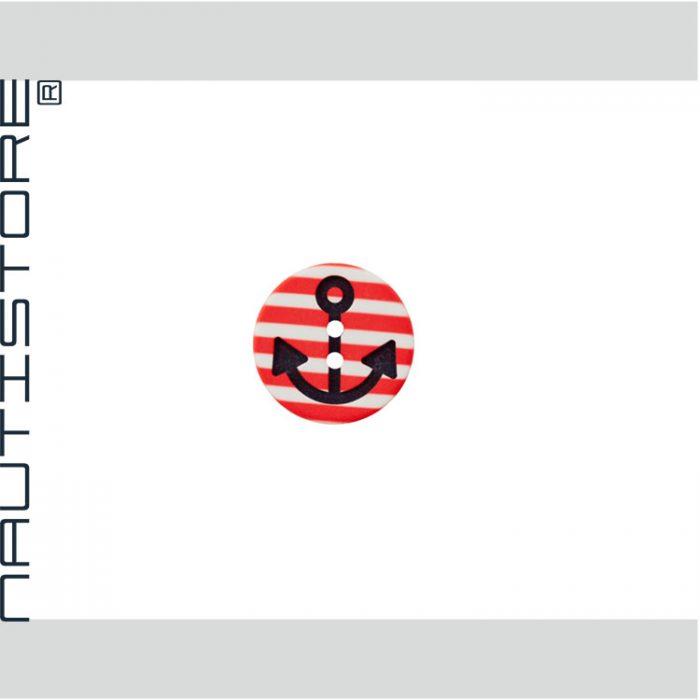 Knopf Anker Streifen rot