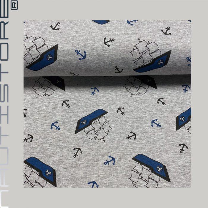 Boote blau – grau melange